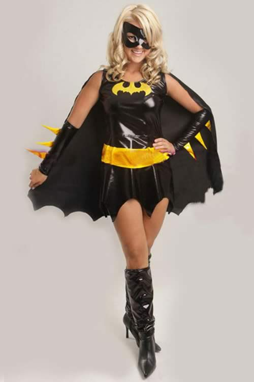 Sexy Halloween Superhero Bat Costume for Women