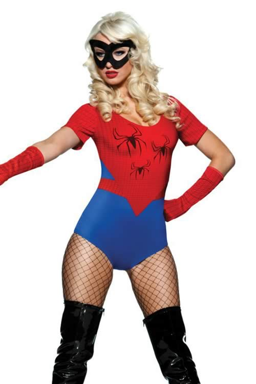 Sexy Woman Spider Costume in Blue