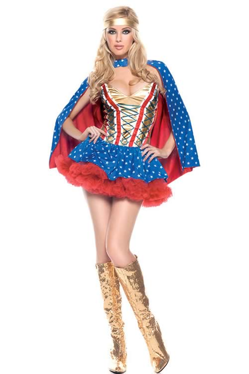 Halloween Sexy Wonder Woman Costume for Cosplay