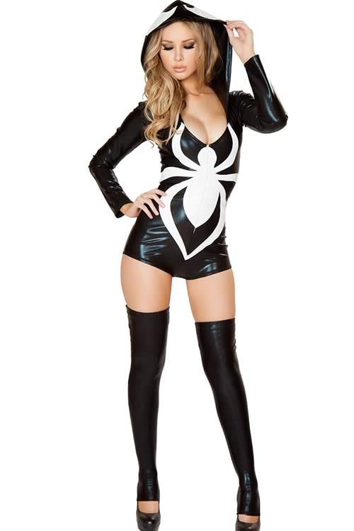 Halloween Hero Women Spider Costume in White