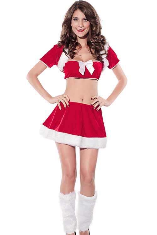 Christmas Velvet Santa Costume for Women