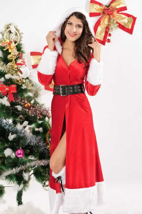 Winter Fantasy Robe Christmas Costumes for Women