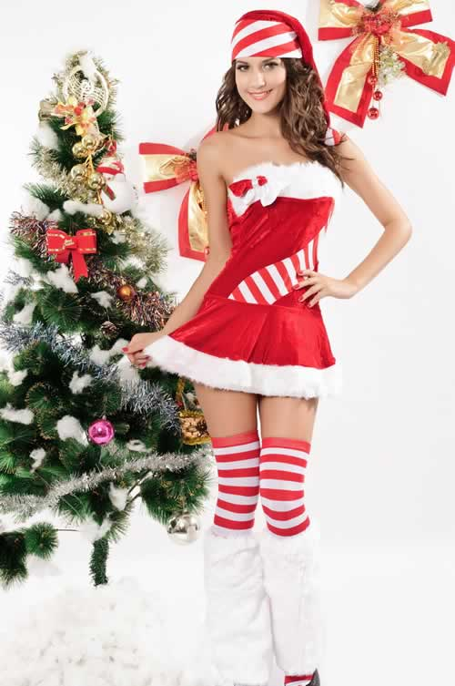 Candy Cane Christmas Costumes for Women