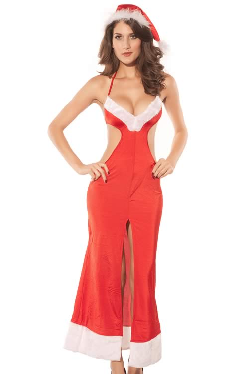 Mrs Claus Christmas Gown Costumes for Women