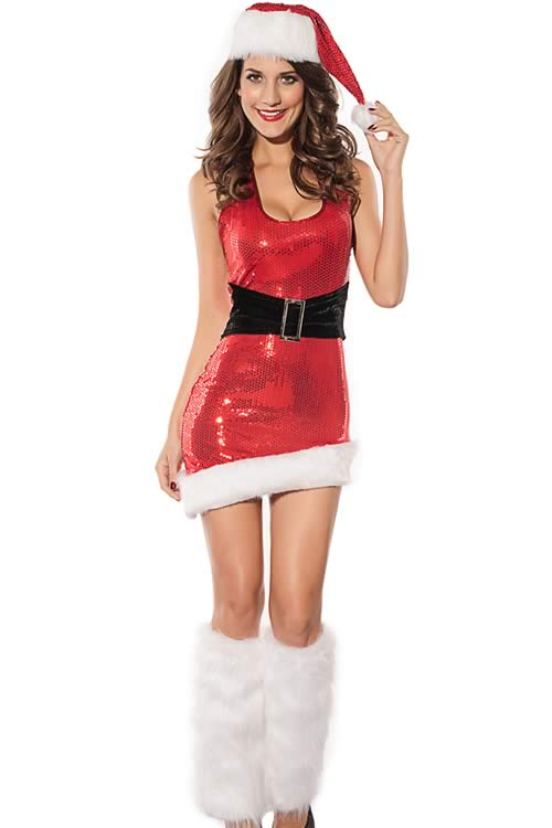 Shiny Christmas Vixen Costume for Women