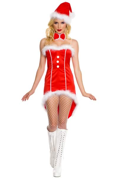 Christmas Santa Tuxedo Costume for Women