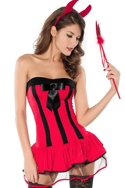 Halloween Devilish Hottie Costume for Women