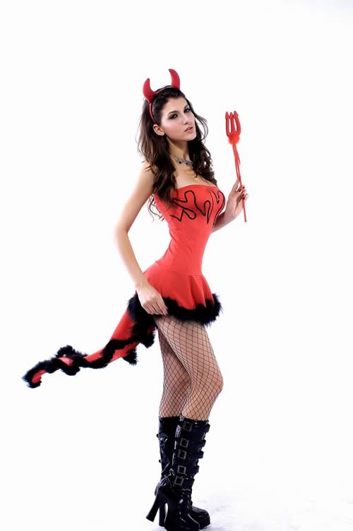 Exciting Halloween Lil Devil Costume for Women