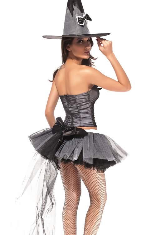 Halloween Sabrina Witch Costume in Gray
