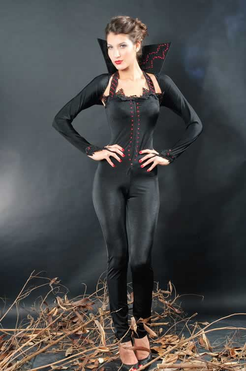 Halloween Feisty Devil Jumpsuit Costume for Women