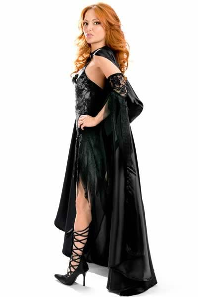 Girl Vixen Vamp Halloween Costume with Party Dress