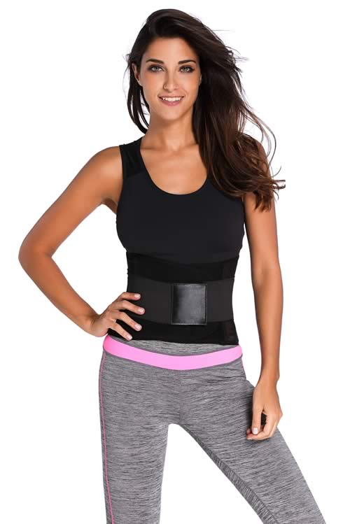 Black Power Belt Fitness Waist Trainer Corset