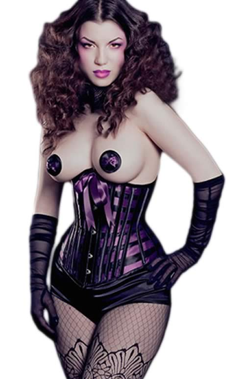 Fashion Lattice Ribbon Under Corset with Matching Thong