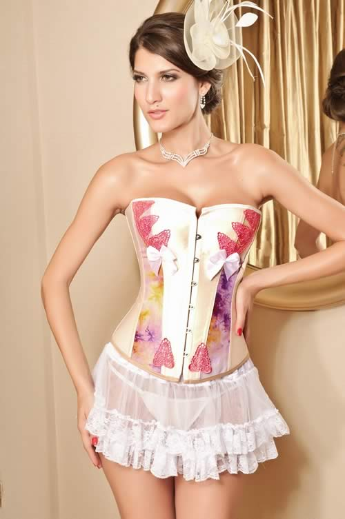 Strawberry Shortcake Overbust Corset Costume in Pink