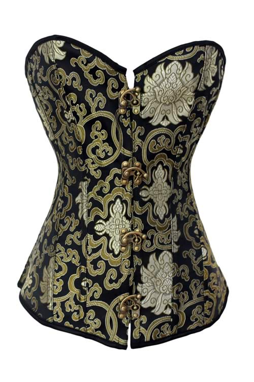 Party Queen Floral Satin Body Shaper Corset