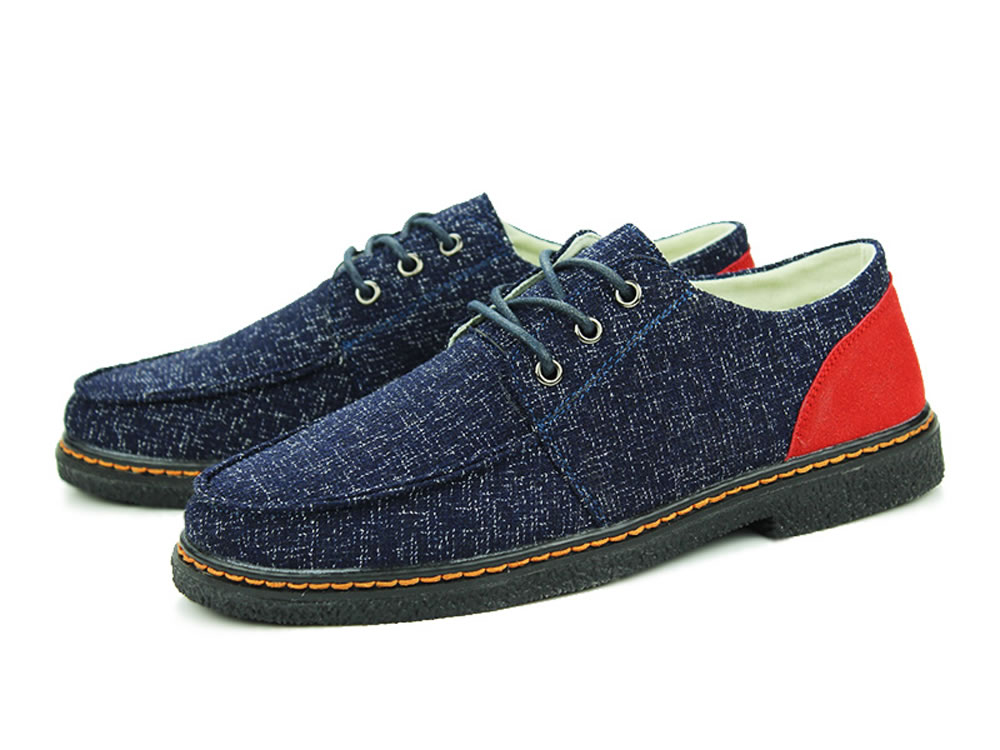 V17 Blue All-Purpose Style Breathable Canvas Men Casual Shoes