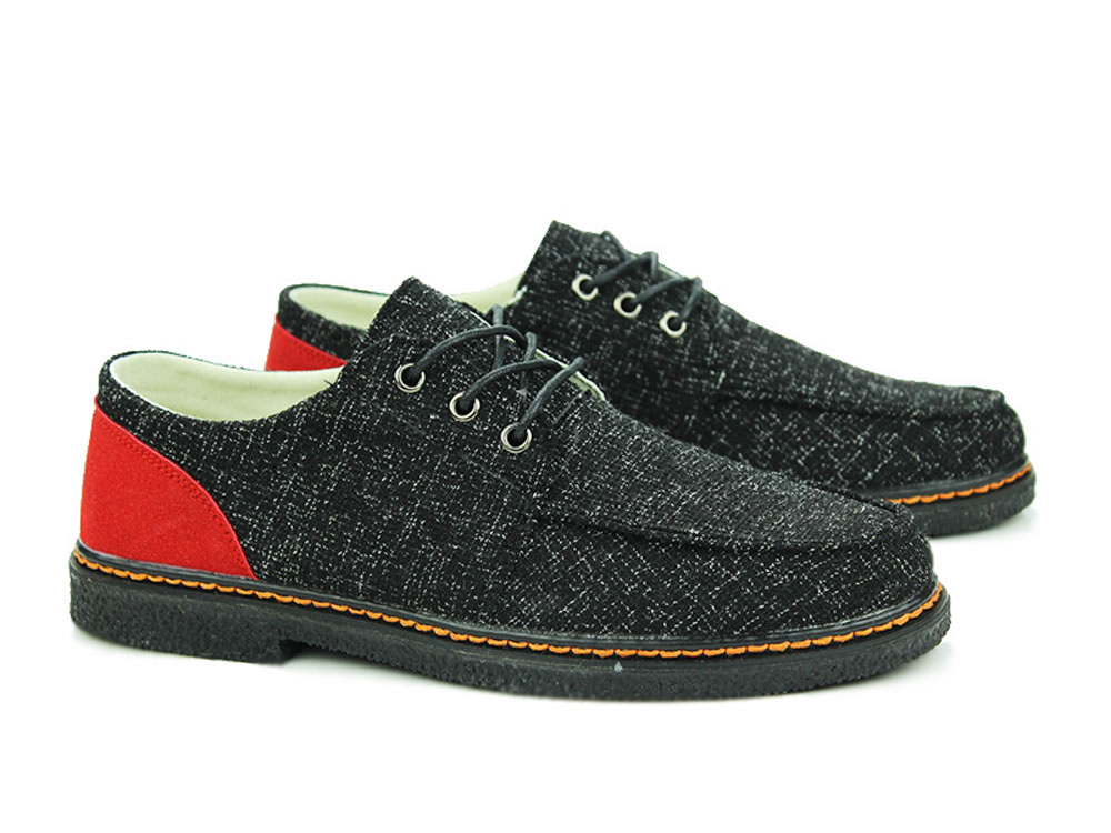 V17 Black All-Purpose Style Breathable Canvas Men Casual Shoes