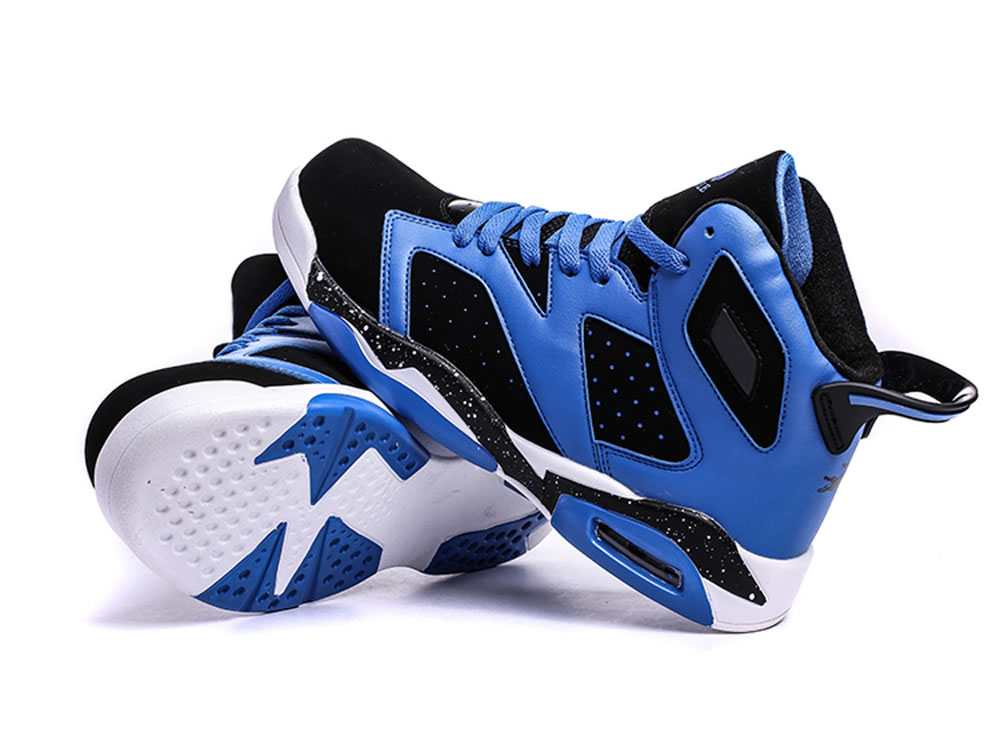 V17 Blue Cow Leather Breathable Basketball Sport Running High Shoes