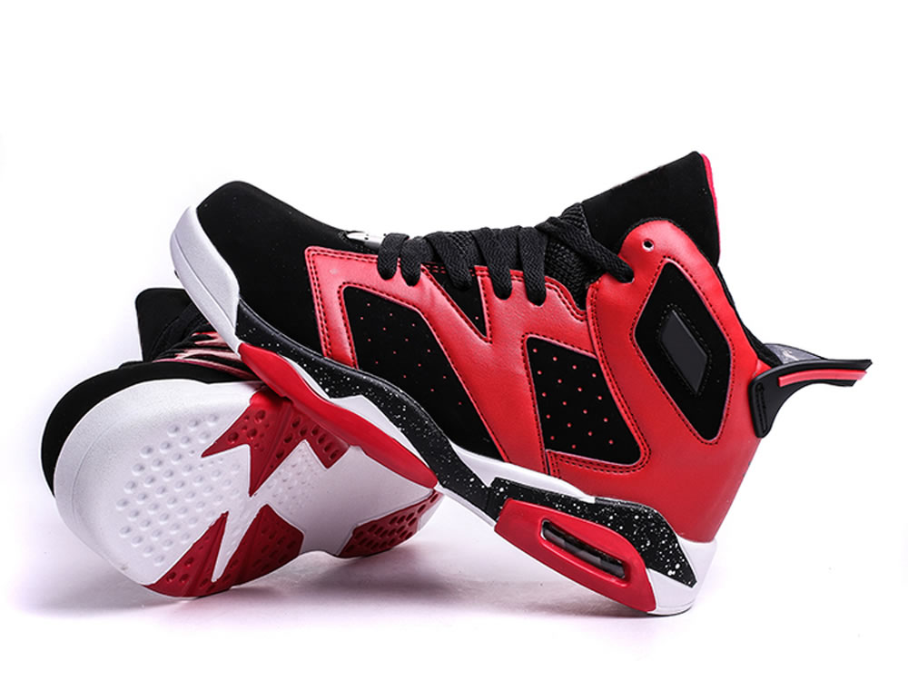V17 Red Cow Leather Breathable Basketball Sport Running High Shoes