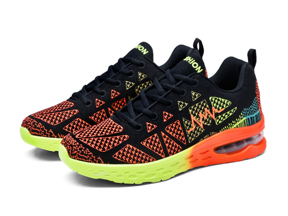 V17 Breathable Mesh Fabric Couples Running Shoes in Orange