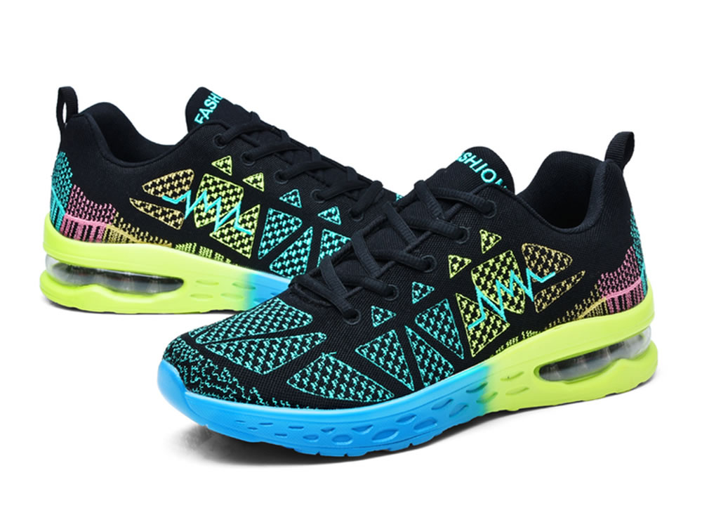 V17 Breathable Mesh Fabric Couples Running Shoes in Green