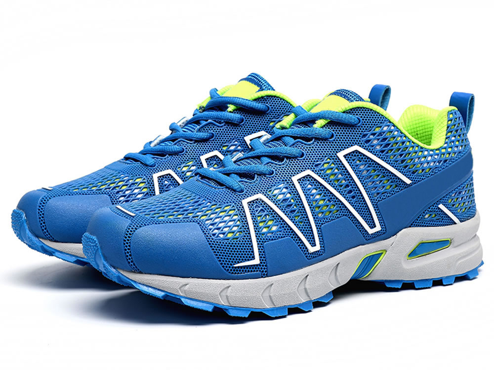 V17 Men Blue PU Mesh Breathable Sport Style Tennis Shoes