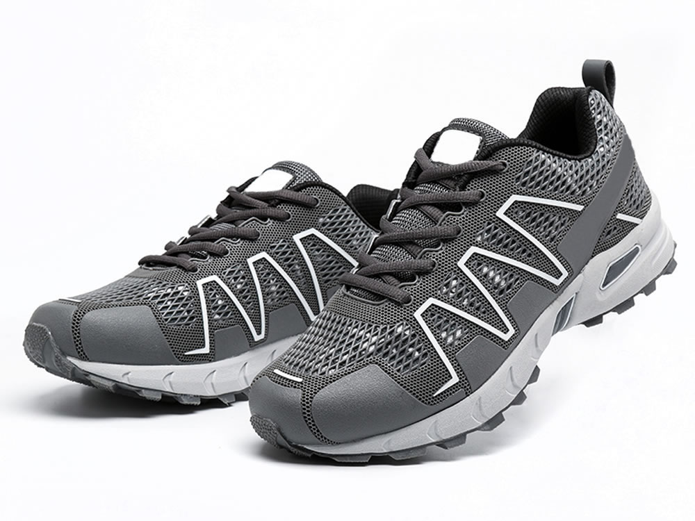 V17 Men Gray PU Mesh Breathable Sport Style Tennis Shoes