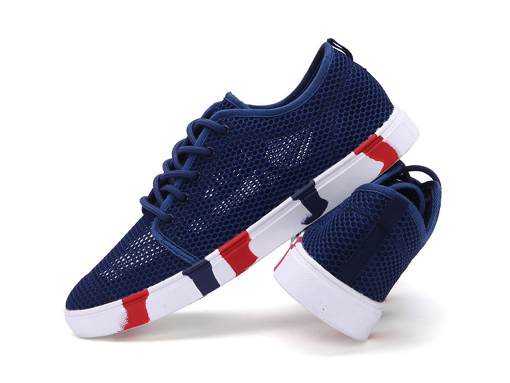 V17 Men Authentic Fashion Tennis Skate Couples Shoes in Dark Blue