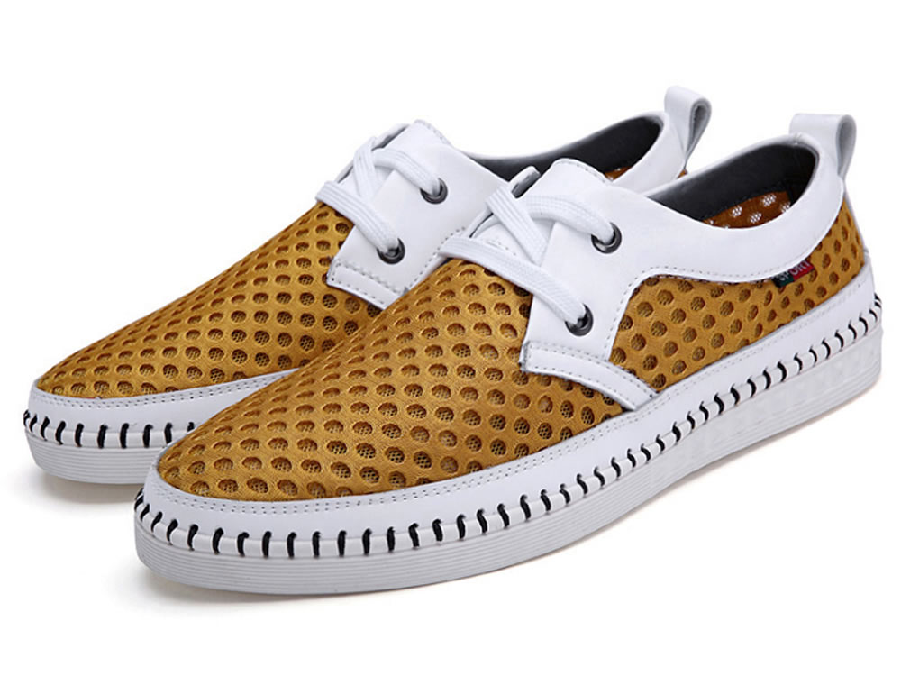 V17 Comfortable Men Leisure Skate Tennis Shoes in Yellow