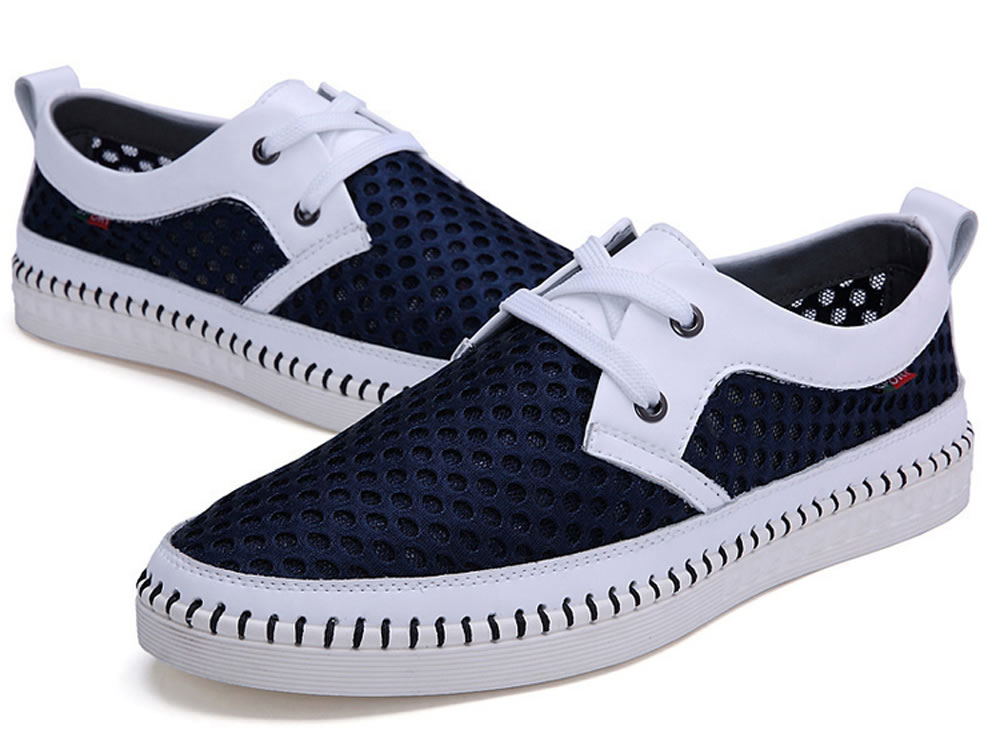 V17 Comfortable Men Leisure Skate Tennis Shoes in Dark Blue