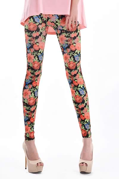 Women Floral Print Leggings for Sale