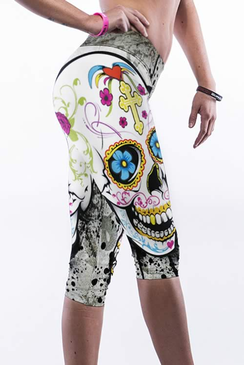 Sexy Skull Yoga Leggings Pants for Women