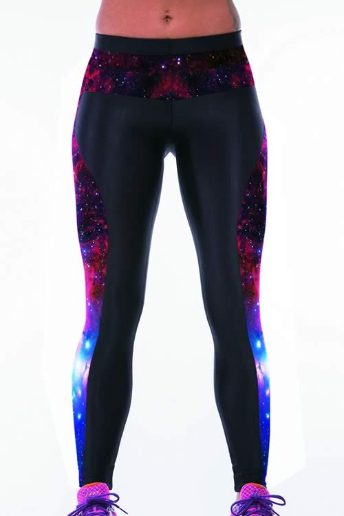 Galaxy Printed Tight Sport Yoga Leggings