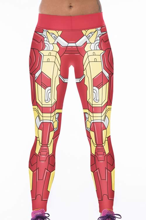 Red Woman Warrior 3D Printed Leggings