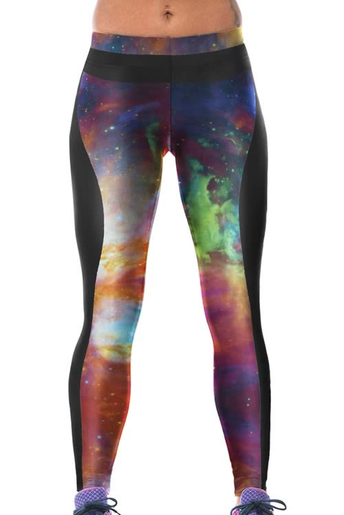 Fancy Galaxy Print Yoga Leggings for Women