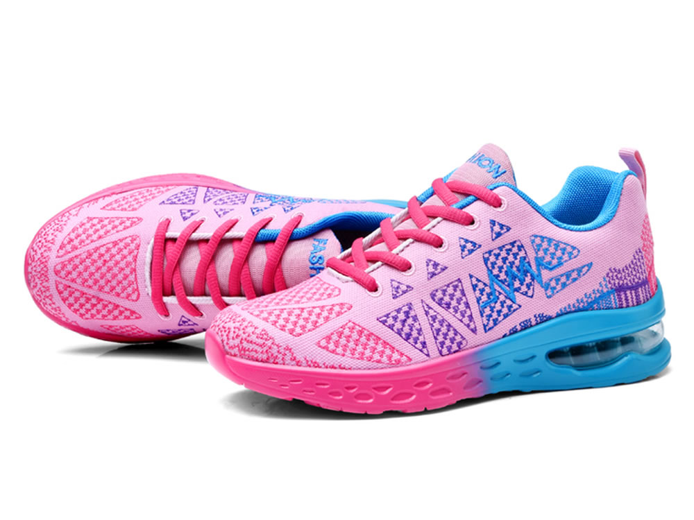 V17 Breathable Mesh Fabric Couples Running Shoes in Pink