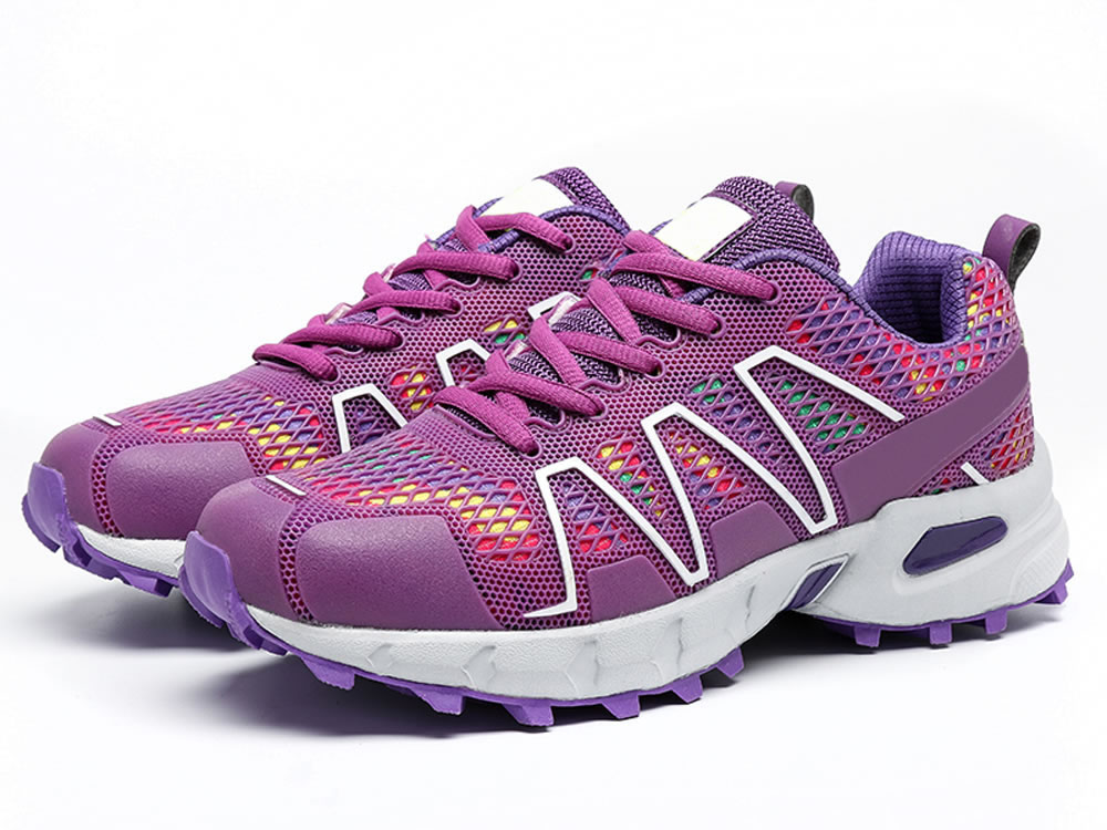 V17 Women Purple PU Mesh Breathable Sport Style Tennis Shoes