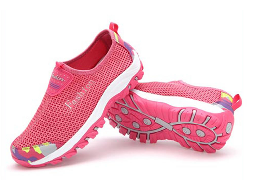 V17 Pink Honeycomb Mesh Breathable Vamp Women Tennis Shoes
